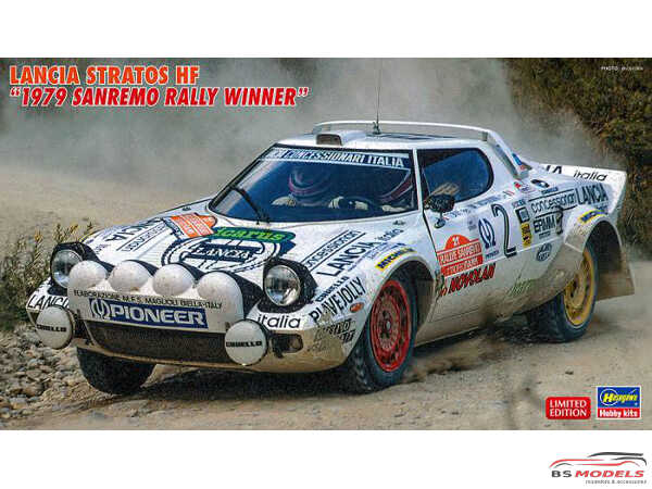 HAS20440 Lancia Stratos HF  1979 Sanremo Rally Winner Plastic Kit