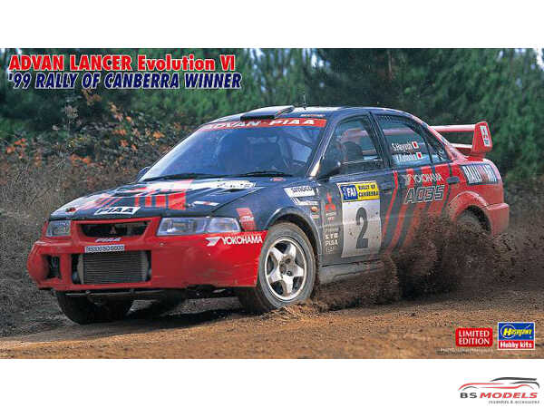 HAS20443 Mitsubishi ADVAN Lancer EVO VI  '99 Rally of Canberra winner Plastic Kit