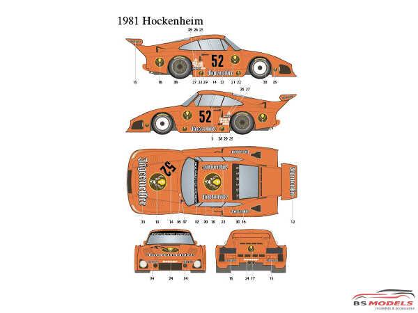 STU27DC1227 Porsche 935 K3  Jagermeister  #2 #52  DRM 1980/81 Waterslide decal Decal