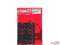 STU27FP24218 Gr. C-car Tyre Template A   (Bridgestone-Potenza) Etched metal Accessoires