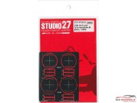STU27FP24219 Gr. C-car Tyre Template B   (Dunlop-Denloc) 1989 Etched metal Accessoires