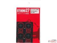 STU27FP24220 Gr. C-car Tyre Template C  (Dunlop) 1990 - Etched metal Accessoires