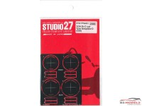 STU27FP24221 Gr. C-car Tyre Template D   (Goodyear - Eagle) Etched metal Accessoires