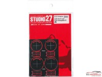 STU27FP24222 Gr. C-car Tyre Template E   (Michelin) Etched metal Accessoires
