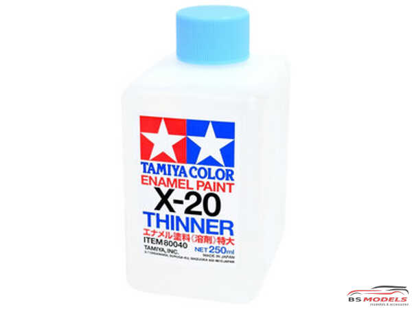 TAM80040 X-20  Enamel Thinner  250ml Paint Material