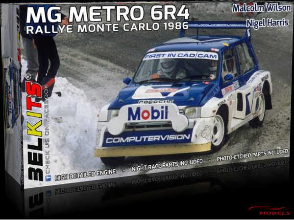 BEL015 MG Metro 6R4  M. Wilson-N. Harris  Monte Carlo 1986 Plastic Kit