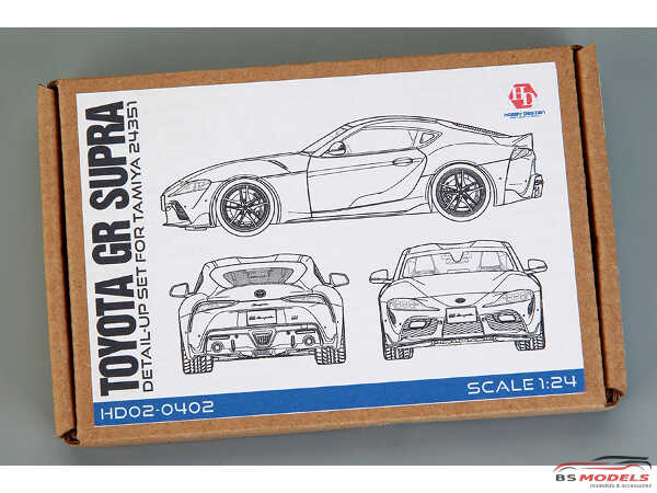 HD020402 Toyota GR Supra detail-up set (PE+metal+resin+metal logo) FOR TAM 24351 Multimedia Accessoires