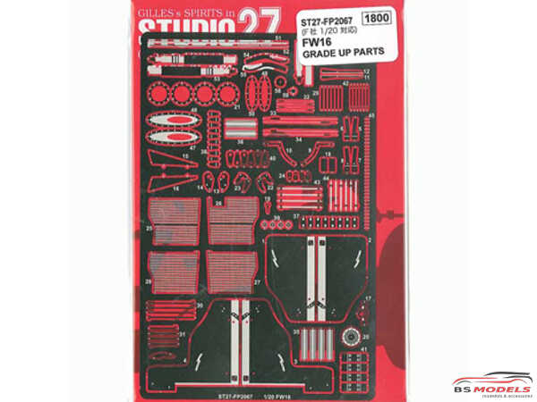 STU27FP2067 Williams FW16 upgrade parts  FOR FUJ Etched metal Accessoires