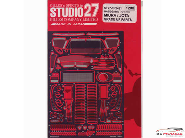 STU27FP2481 Lamborghini Miura/Jota upgrade parts FOR HAS Etched metal Accessoires