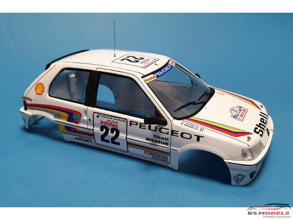 TK24470 Peugeot 106 Xsi Tour de Corse 1993 #22 Panizzi  #42 Bruzi decal Waterslide decal Decal