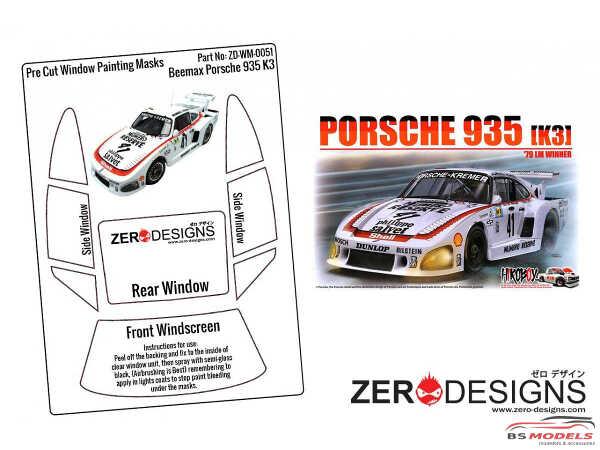 ZDWM0051 Porsche Kremer 935 K3 Pre-Cut Window Painting Mask Multimedia Accessoires