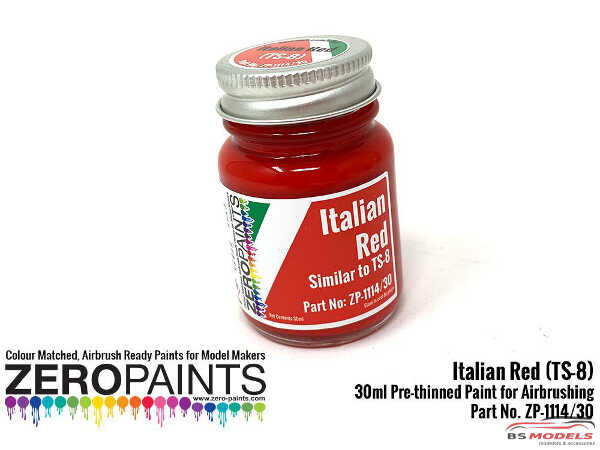 ZP1114-30 Italian Red Paint (similar to TS8) 30ml Paint Material