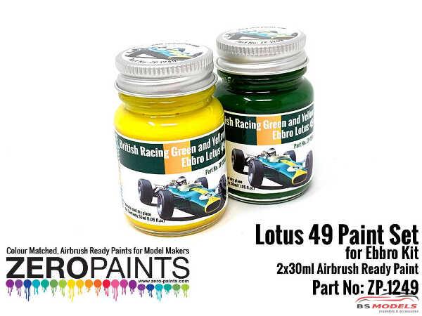 ZP1249 Lotus 49 (Ebbro) Paint set 2x30ml Paint Material