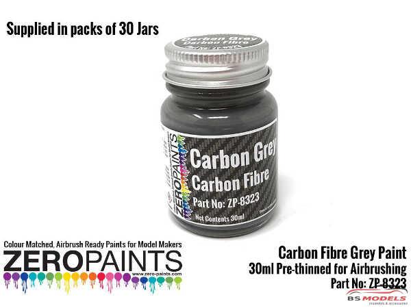 ZP1323-30 Carbon Grey Paint 30ml Paint Material