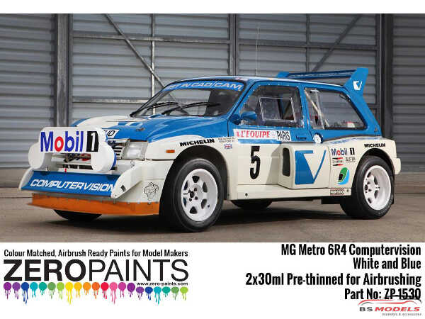 ZP1530 MG Metro 6R4 Computervision - White and Blue Paint set 2x30ml) Paint Material
