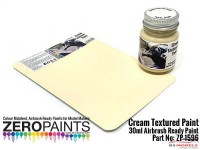 ZP1596 Cream Textured Paint 30ml Paint Material