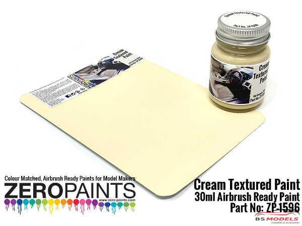 ZP1596 Cream Textured Paint 30ml Paint Material