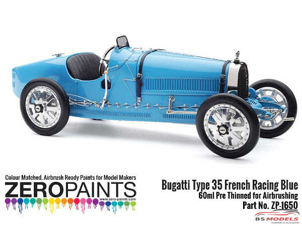 ZP1650 Bugatti Type 35 French Racing Blue Paint 60ml Paint Material