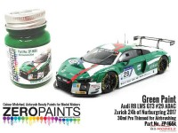 ZP1651 Audi R8 LMS GT3 #29 ADAC Zurich 24h of Nurburgring 2017  Green Paint 30ml Paint Material