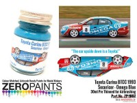 ZP1657 Toyota Carina BTCC 1993 Securicor Omega Blue  30ml Paint Material
