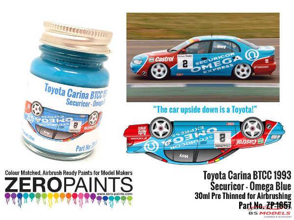 ZP1657 Toyota Carina BTCC 1993 Securicor Omega Blue  30ml Paint Material