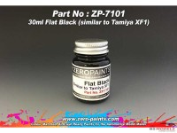 ZP7101-30 Flat Black Paint 30ml (similat to XF-1) Paint Material