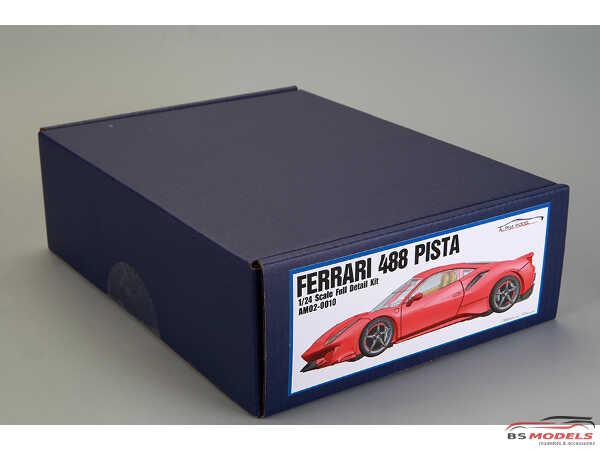 AM020010 Ferrari 488 Pista Full Detail Kit Multimedia Kit