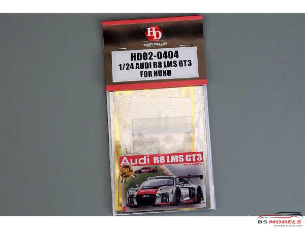 HD020404 Audi R8 LMS GT3 for NuNu detail set Multimedia Accessoires