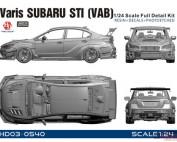 HD030540 Varis Subaru STI (VAB) full detail kit Multimedia Kit