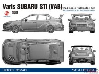 HD030540 Varis Subaru STI (VAB) full detail kit Multimedia Kit
