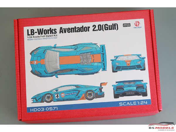 HD030571 LB-Works Aventator 2.0  (Gulf) Full Detail Kit Multimedia Kit