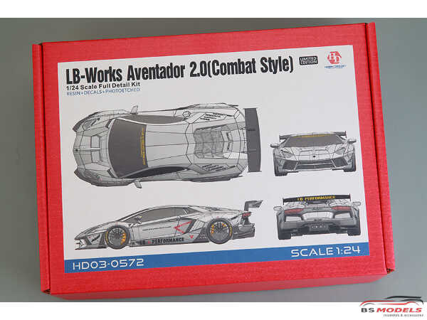 HD030572 LB-Works Aventator 2.0  (Combat Style)) Full Detail Kit Multimedia Kit
