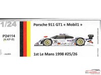 "P24114K Porsche 911 GT1 ""Mobil""  Le Mans 1998 winner #25/26 Resin Kit"