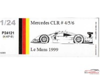 P24121K Mercedes CLR  #4/5/6  Le Mans 1999 Resin Kit