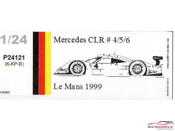 P24121K Mercedes CLR  #4/5/6  Le Mans 1999 Resin Kit