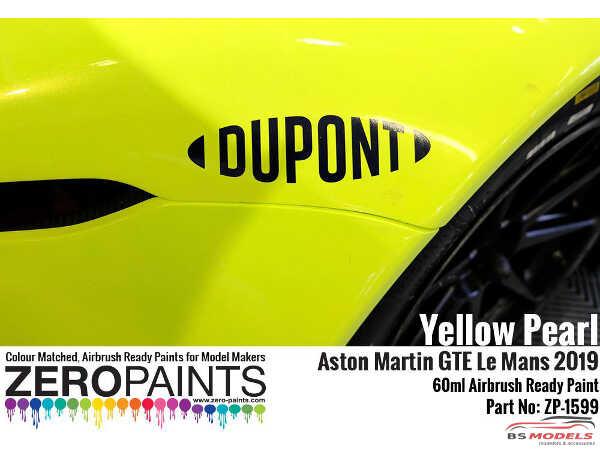 ZP1599 Yellow Pearl Aston Martin GTE Le Mans 2019 Paint 60ml Paint Material