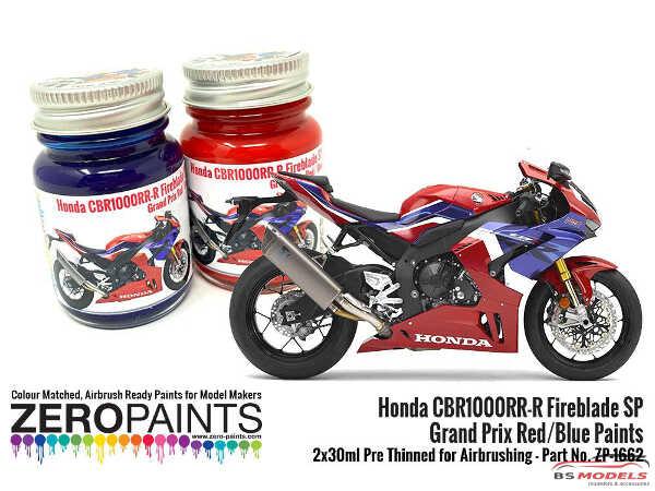 ZP1662 Honda CBR1000RR-R Fireblade SP Grand Prix Red/Blue Paints 2x 30ml Paint Material