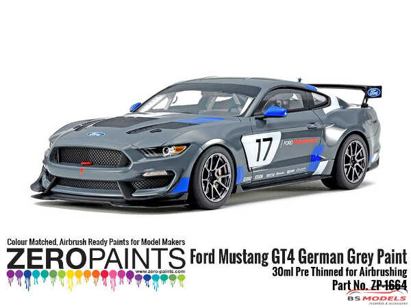 ZP1664 Ford Mustang GT4 German Grey Paint 30ml Paint Material