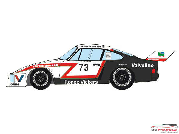 "DCLDEC023 Porsche 935 Kremer K3 ""Team Willeme""  Marlboro Cup Zolder 1978 Waterslide decal Decal"