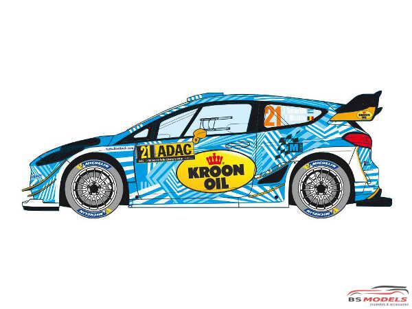 "DCLDEC028 Ford Fiesta WRC "" M-sport World Rally Team"" ADAC  Deutschland Rally 2018 Waterslide decal Decal"