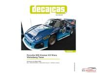 "DCLDEC036 Porsche 935 Kremer K3  ""Wera Weisberg Team""  Le Mans 1981 Waterslide decal Decal"
