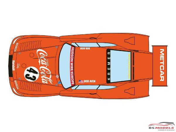 "DCLDEC037 Porsche 935 Kremer K3 ""Bob Akin Motor Racing"" 1981 (3 versions) Waterslide decal Decal"