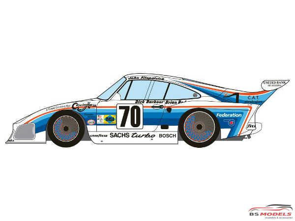 "DCLDEC038 Porsche 935 Kremer K3 ""Dick Barbour racing""  Le Mans 1980 Waterslide decal Decal"