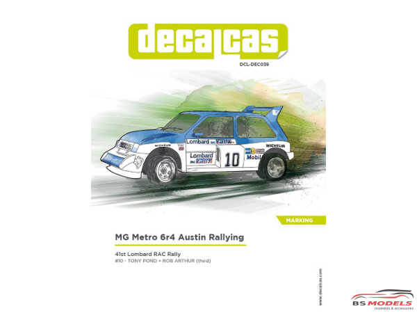 "DCLDEC039 MG Metro 6r4 ""Austin Rallying""  RAC Rally 1985 Waterslide decal Decal"