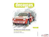 "DCLDEC041 MG Metro 6r4  ""Golden Wonder""  RAC rally 1986 Waterslide decal Decal"