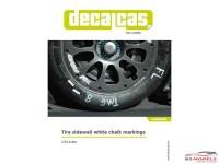 DCLLOG008 Tire sidewall white chalk markings Waterslide decal Decal