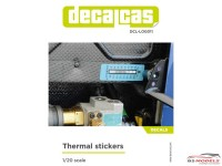 DCLLOG011 Thermal stickers (1/20) Waterslide decal Decal