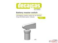 DCLPAR027 Battery Master Switch  (10pcs) Resin Accessoires