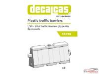 DCLPAR029 Plastic Traffic barriers Type1 (2pcs) Resin Accessoires