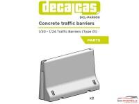 DCLPAR030 Concrete Traffic barriers   (2pcs) Resin Accessoires